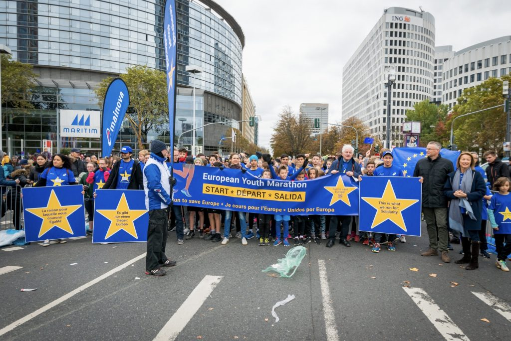 Start 1. European Youth Marathon Frankfurt 2018