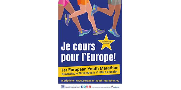 Poster Je cours pour l'Europe